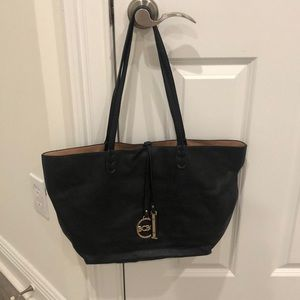 BCBG Black/tan reversible purse